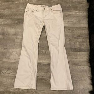 Miss Me white boot cut jeans